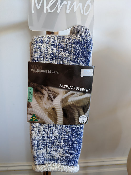 Merino Socks- Navy Marle