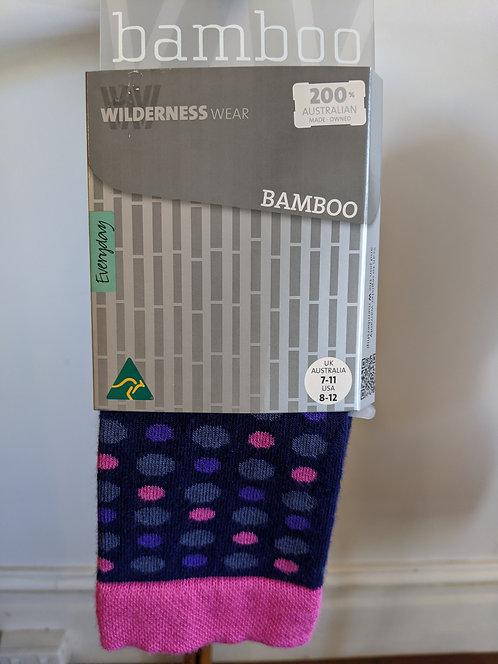 Bamboo Socks- Navy Orbs