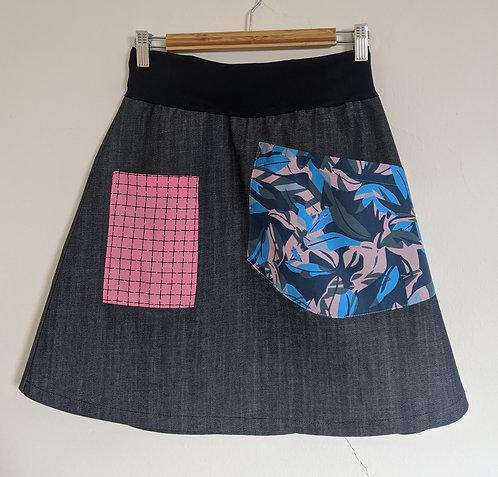 MiM Melbourne Off Grid A Line Pocket Skirt