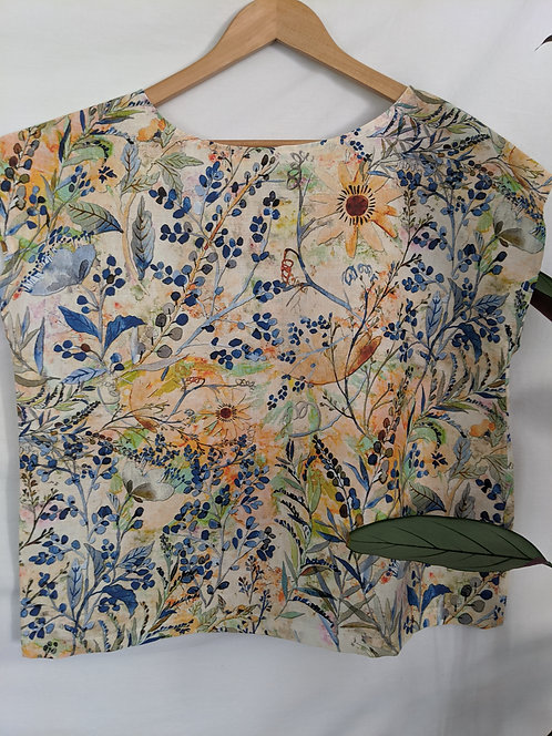 MiM Melbourne Flora Linen Shell Tee