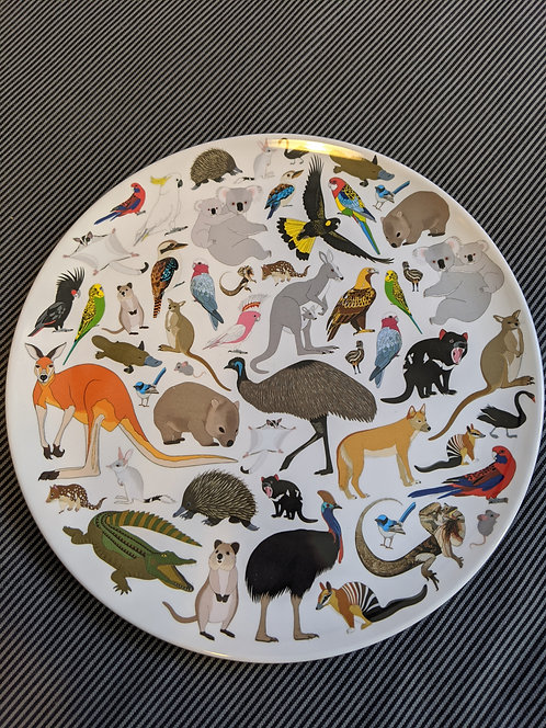 Australian Animal Melamine Plate