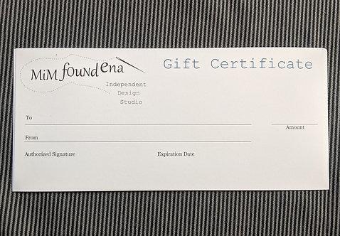 MiM Found Ena Gift Certificate $50