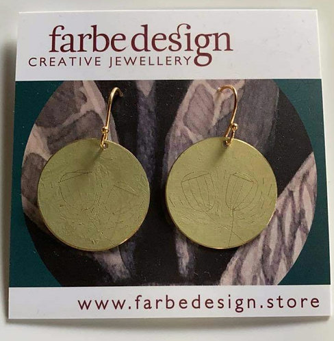 Farbe Large Patina Earring