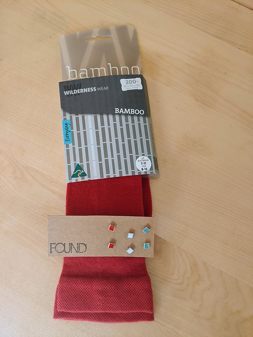 Gift Pack- Socks And Studs