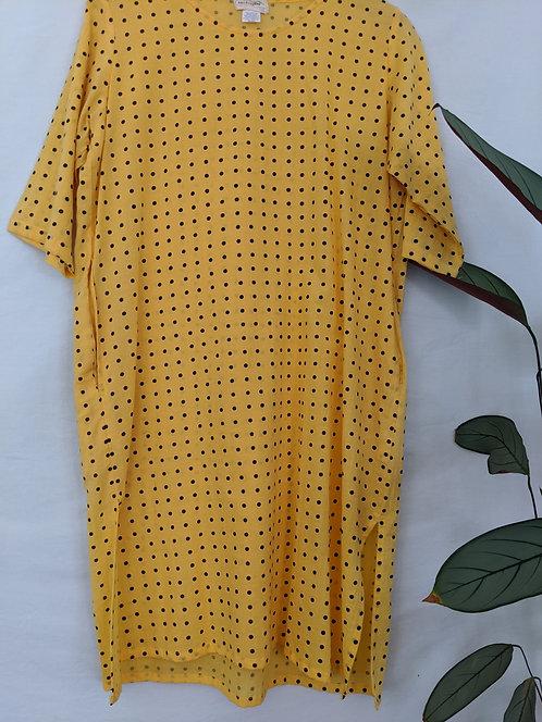 Found Textiles Pocket Shift Dress