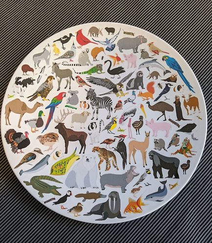 Melamine Plate- 101 Collective Nouns