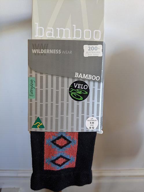 Bamboo socks- Black Diamond