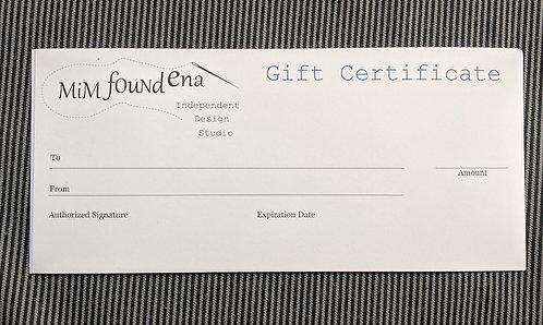MiM Found Ena Gift Certificate $100