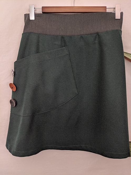 MiM Melbourne Wool  Pocket Skirt