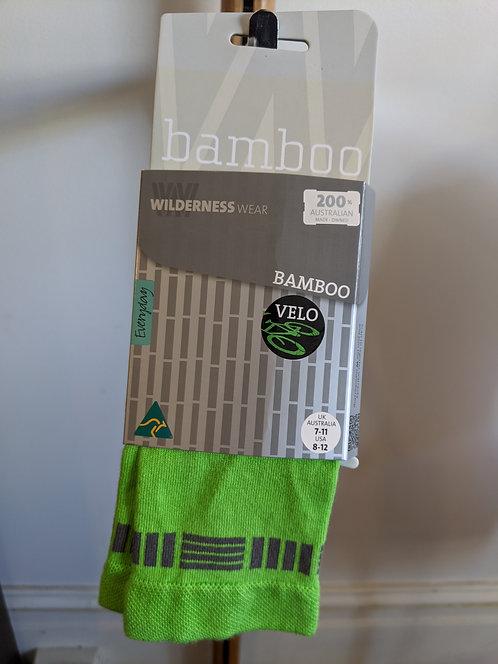 Bamboo socks- Screaming Lime