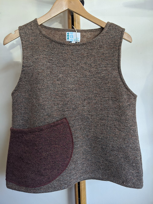 Ena Designs Wool Pocket Vest- Jam Marle