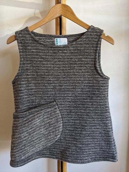 Ena DesignsWool pocket vest grey