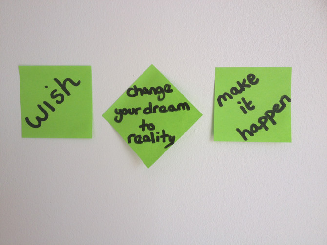 If you want something, you can't just wish for it....you've got to make it happen!!