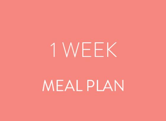1 Week Meal Plan