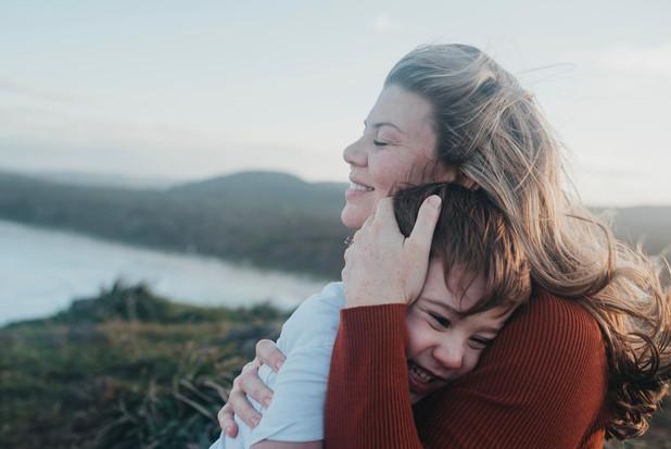 Wind blown hair & real hugs