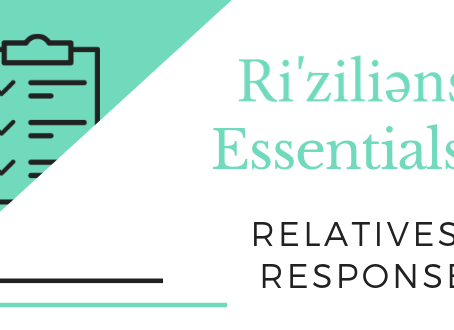 Ri'ziliens Essentials - Relatives' Response