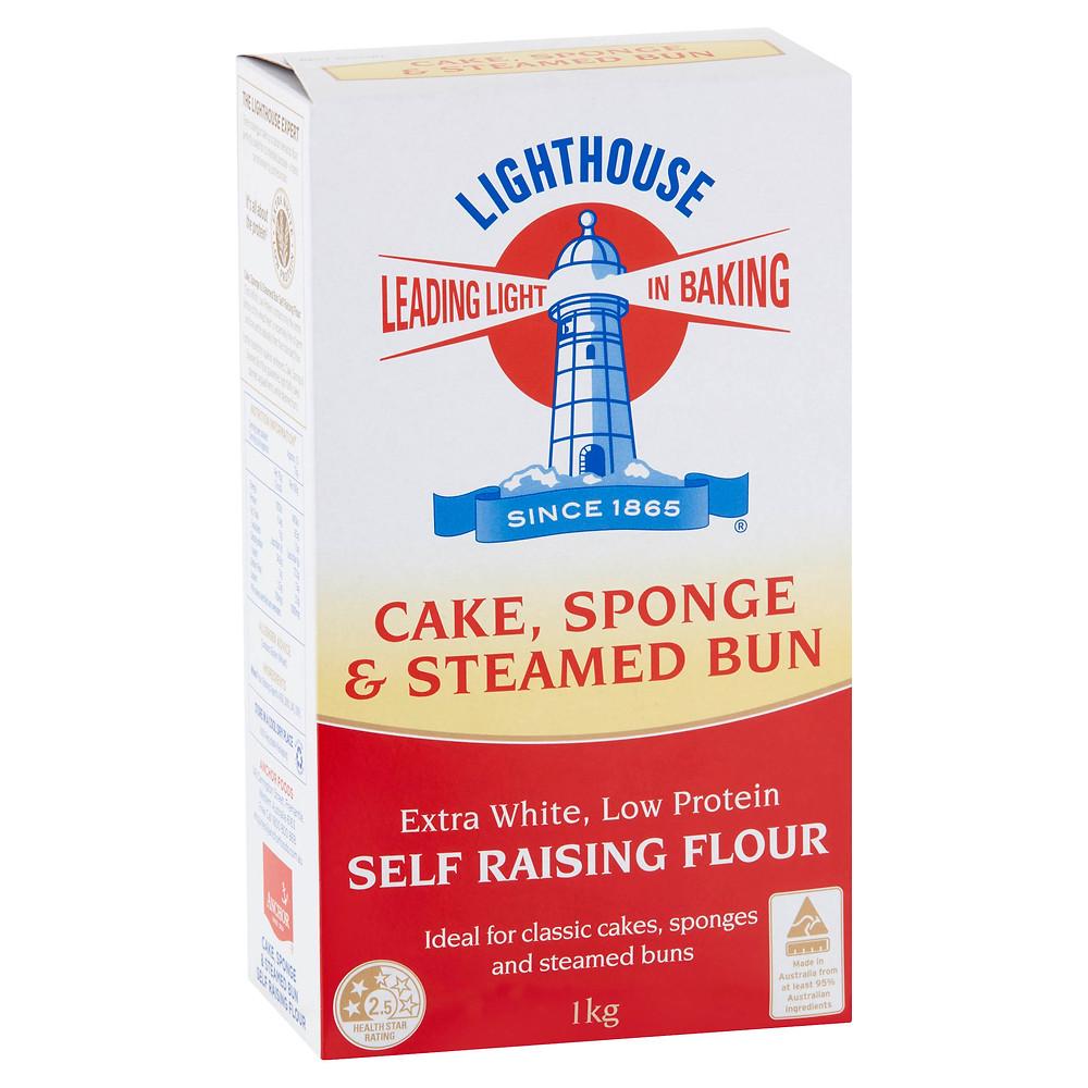 cake sponge and steamed bun self raising flour lighthouse
