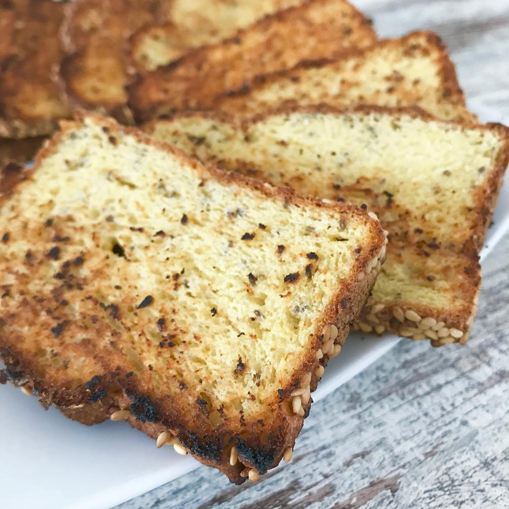Pão sem glúten tostado
