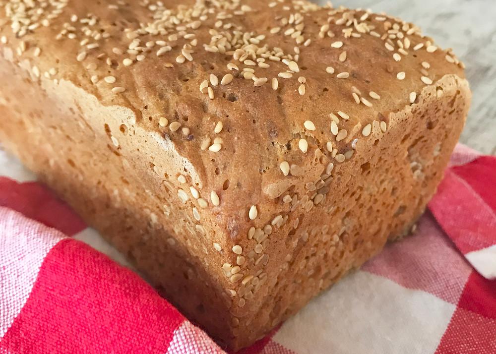 Pão vegano sem glúten