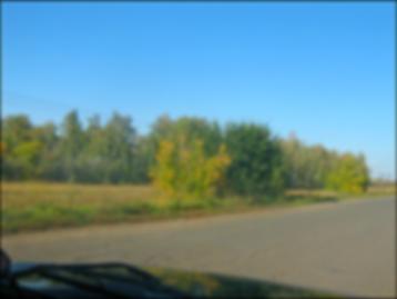 Дорога с трассы в село