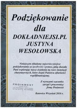 podziekowanie-Proinwest