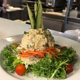 Tuna salad with frisée and hydroponic romaine #jaxpicassos