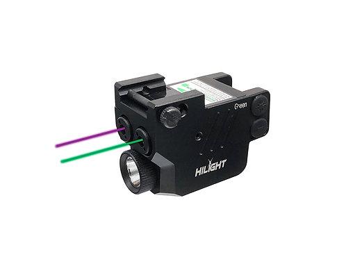 P3PGL - Purple and Green Laser Sight with 500 Lumen LED Flashlight Combo