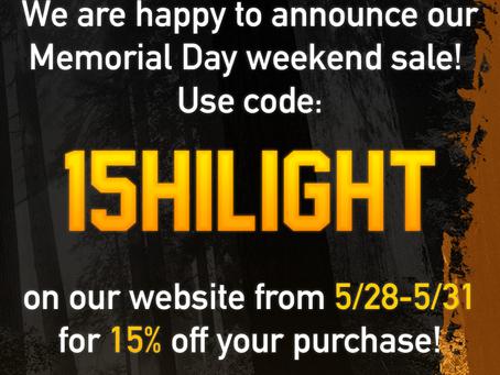 Memorial Day Sale!!!
