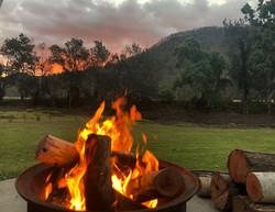 Newly opened campfire