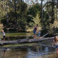 Families on creek