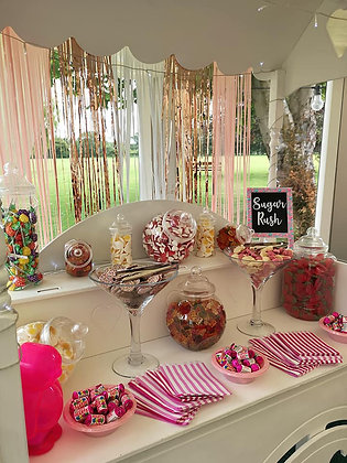 Sweetcart and table top sweet stalls