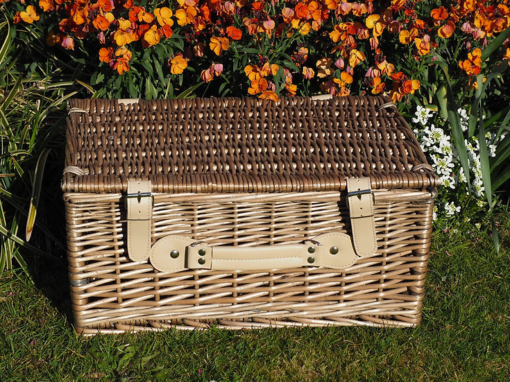 "16"" Wicker Antique Wash Basket"
