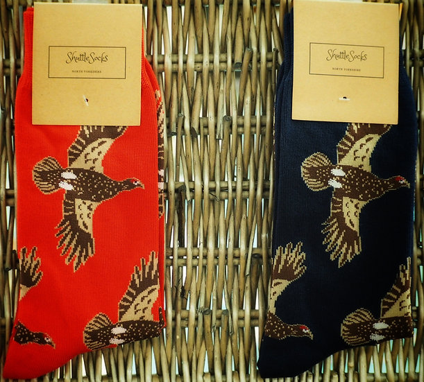 Shuttle Socks Mens Flying Grouse
