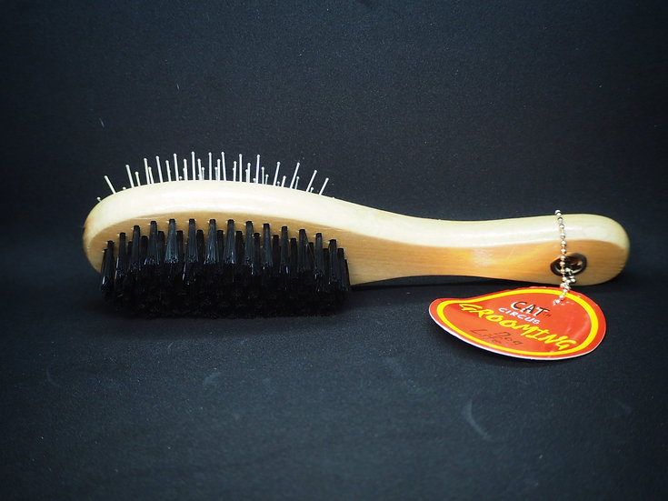 Wooden Double Sided Pet Brush