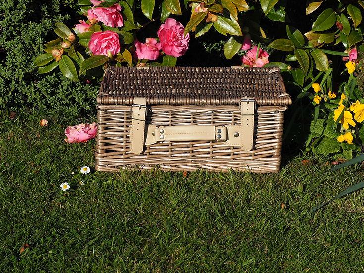 """14"""" Wicker Antique Wash Basket"""