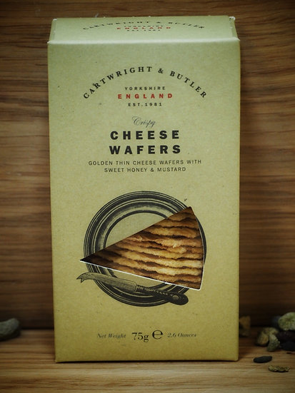 Cheese WafersWith Sweet Honey and Mustard