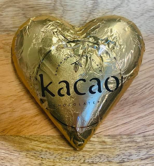 Golden Milk Chocolate Heart