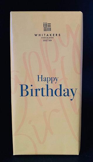 Whittakers 'Happy Birthday' Chocolate Bar