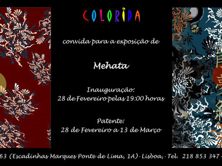Hiroshi Mehata Exhibition at Colorida Art Gallery (Lisbon, Portugal) Feb 28th