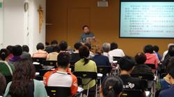 Prof. Ning during the talk