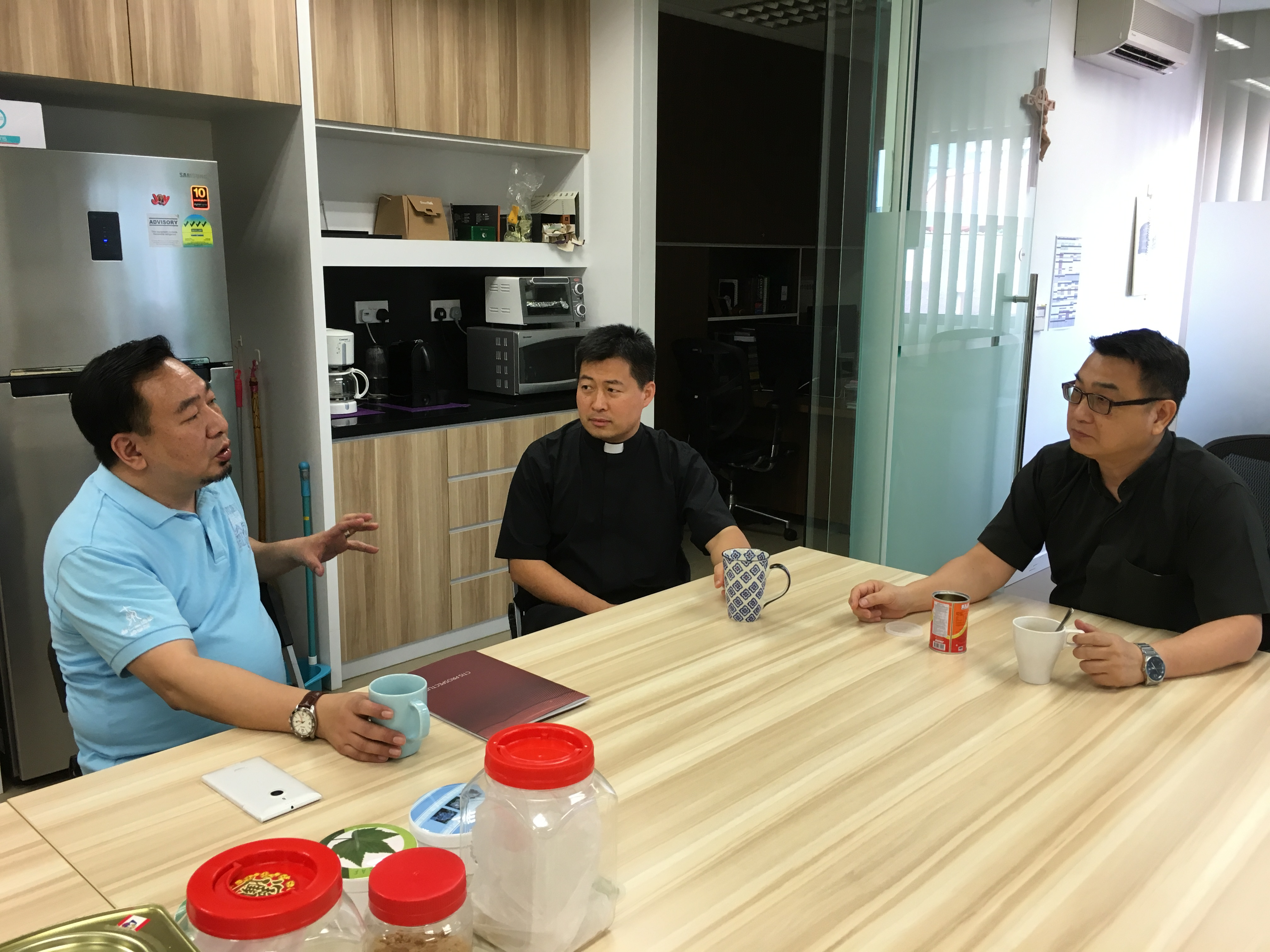 Prof. Ning, Fr. James and Fr. Peter
