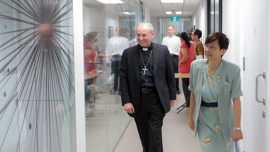 教廷驻新加坡大使 Leopoldo Girelli 莅临神学院