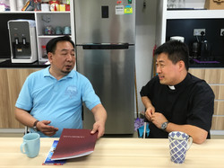 Prof. Bosco Ning with Fr. Peter