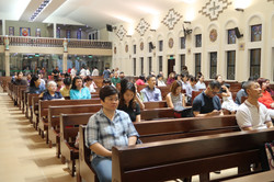 Participants at the Mass