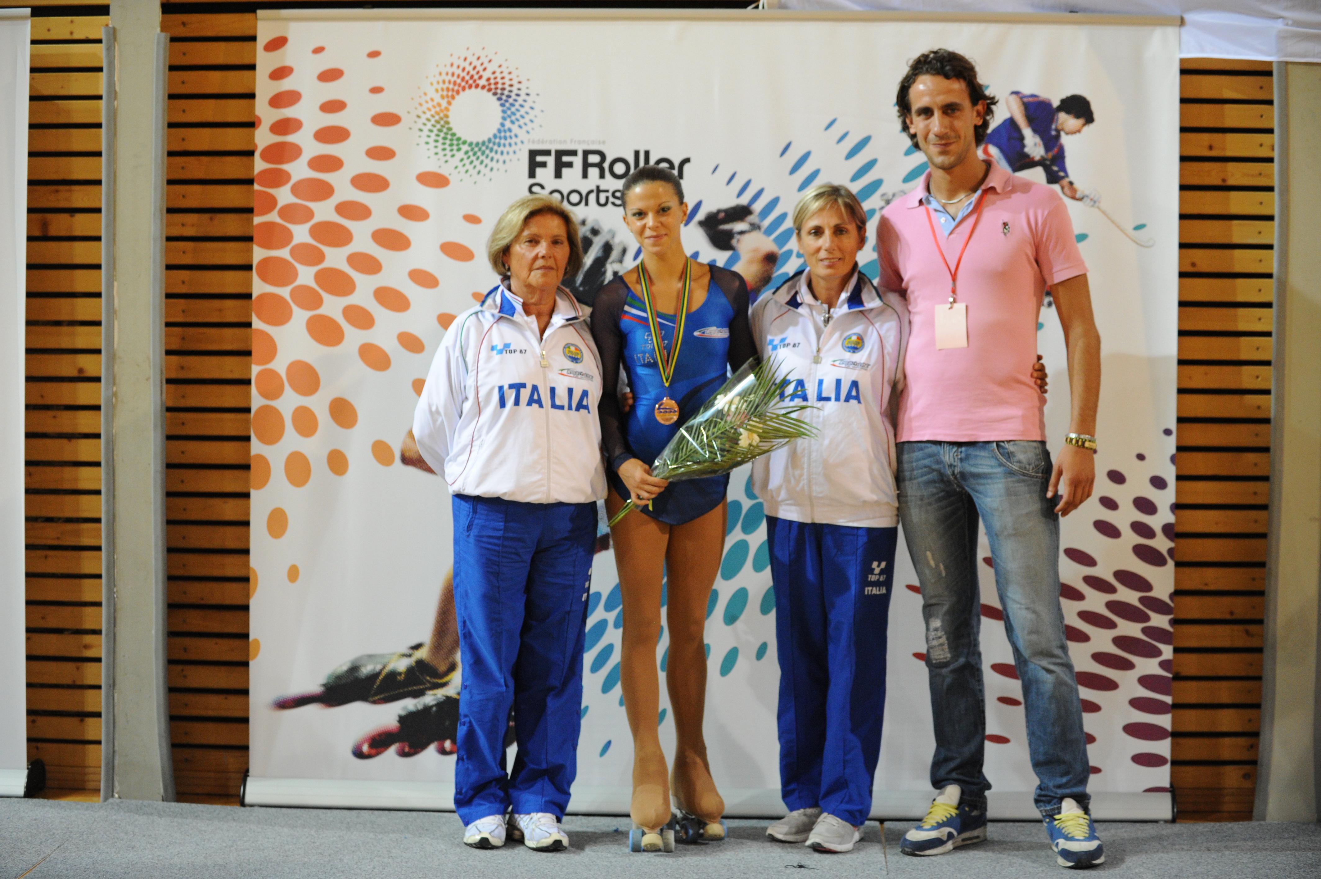 Europei 2012 - Noemi Mattina con Sebastiano Pastorini e parte dello staff