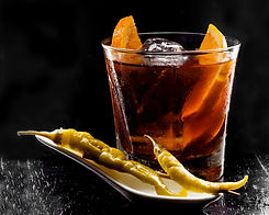Vermouth, traditional Spanish appetizer.