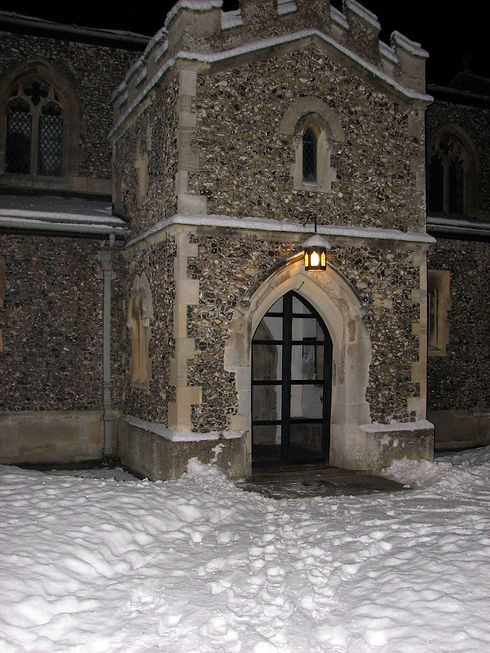 Aldbury Church door snow.JPG