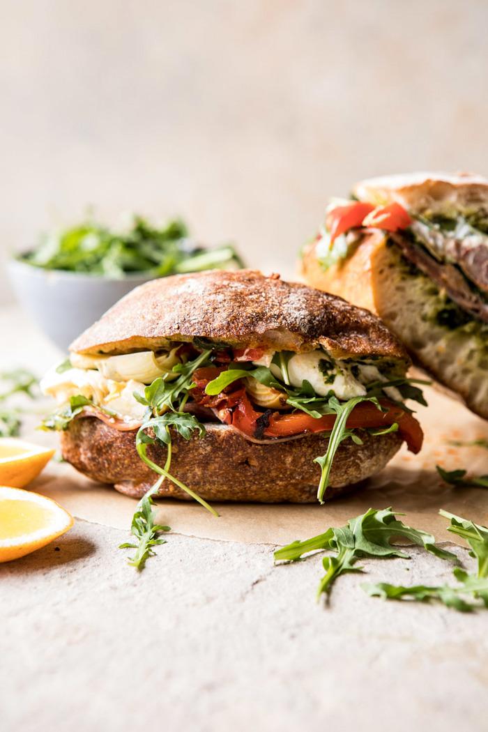 Antipasto-Mozzarella-Sandwich-with-Lemon