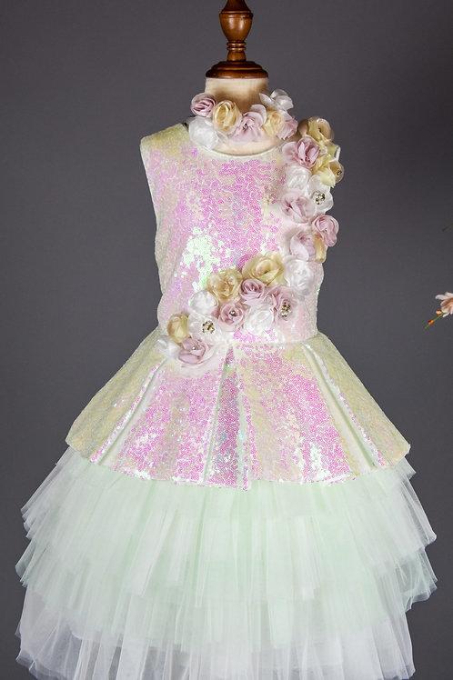 Perine Tutu Sequin  Dress