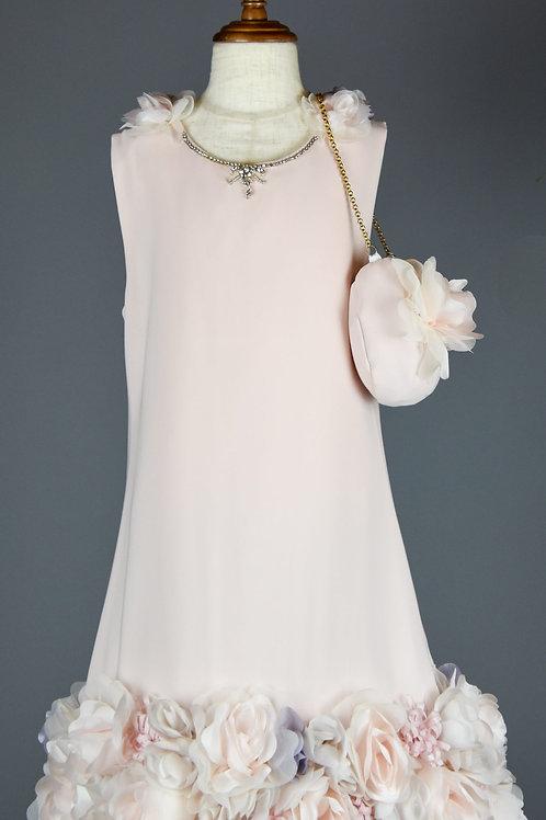 Rexy blush flowery dress
